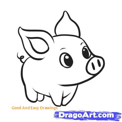 424x422 Good And Easy Drawings Best Easy Animal Drawings Ideas - Animal Drawing Ideas
