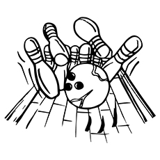 230x230 amazing bowling coloring pages for your toddler - Bowling Alley Drawing