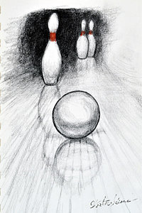 200x300 bowling alley drawings fine art america - Bowling Alley Drawing