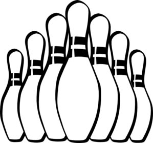 299x279 bowling pins clip art - Bowling Alley Drawing