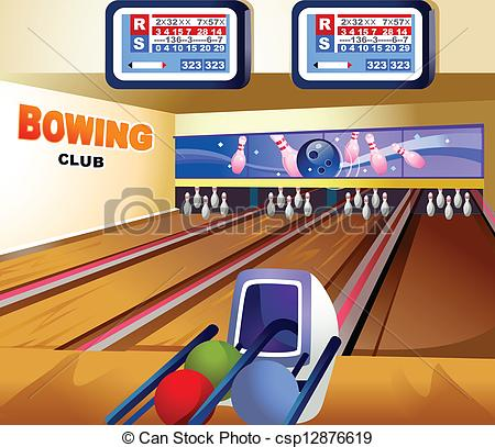 450x407 bowling alley this illustration is a common natural landscape - Bowling Alley Drawing