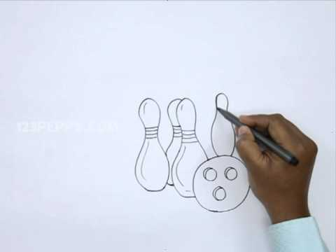 480x360 how to draw snow bowling - Bowling Alley Drawing