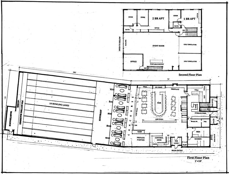 800x611 oak bluffs board approves bowling alley plan - Bowling Alley Drawing
