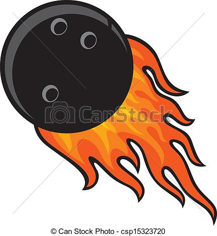431x470 bowling ball in fire - Bowling Ball Drawing