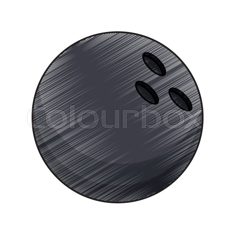 800x800 drawing bowling ball equipment vector stock vector colourbox - Bowling Ball Drawing