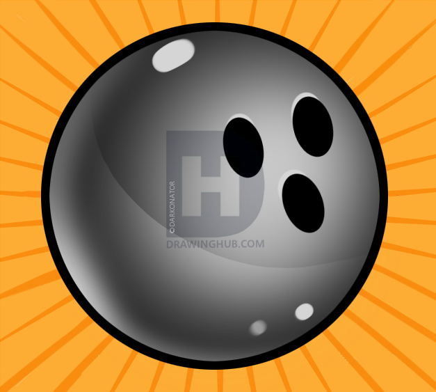 627x563 how to draw a bowling ball, step - Bowling Ball Drawing