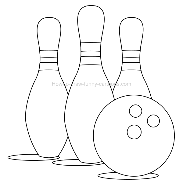 600x612 how to draw a bowling clip art illustration - Bowling Ball Drawing