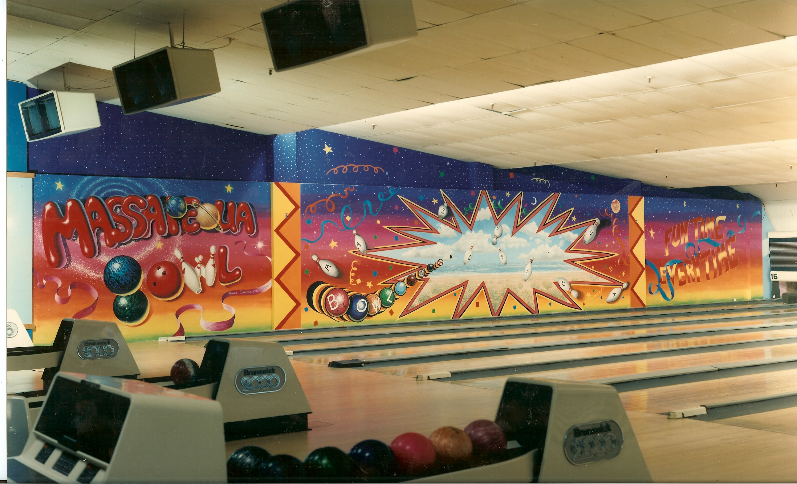 2796x1700 massapequa bowling alley murals in massapequa, new york - Bowling Lane Drawing