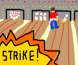 300x250 urinating on a bowling alley lane drawing - Bowling Lane Drawing