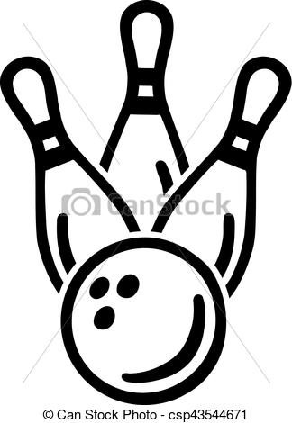 324x470 bowling pins ball vectors illustration - Bowling Pin Drawing