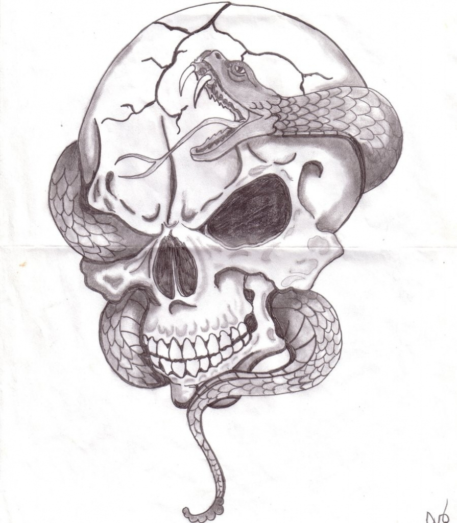 Cool Skull Drawings At Paintingvalleycom Explore