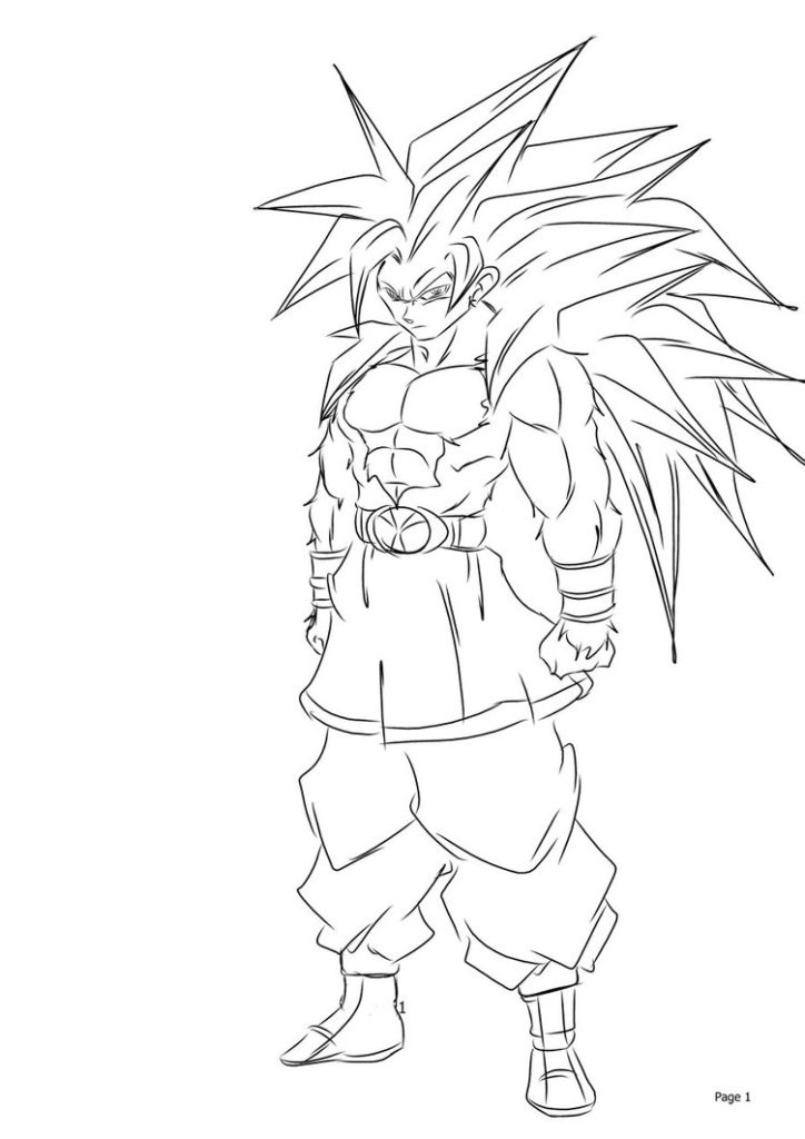 Goku Drawing Super Saiyan 5 At Paintingvalley Com Explore