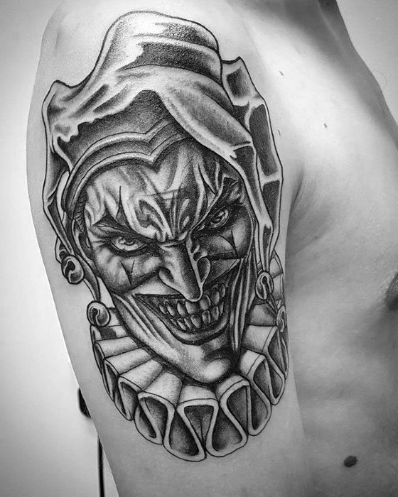 dce94db1a1423 Joker Tattoo Drawing at PaintingValley.com | Explore collection of ...