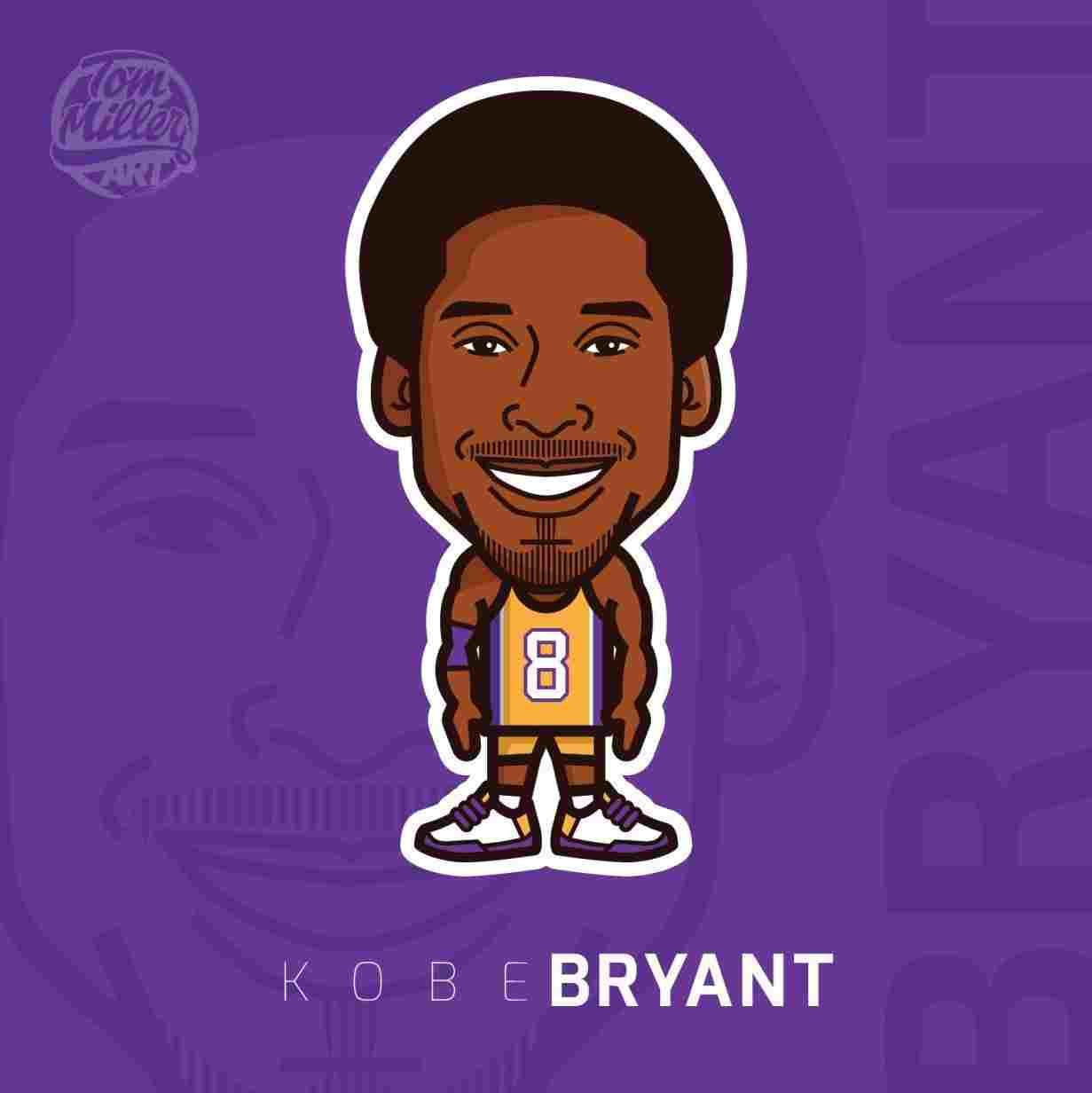 30+ Top For Sketch Kobe Bryant Cartoon Drawing