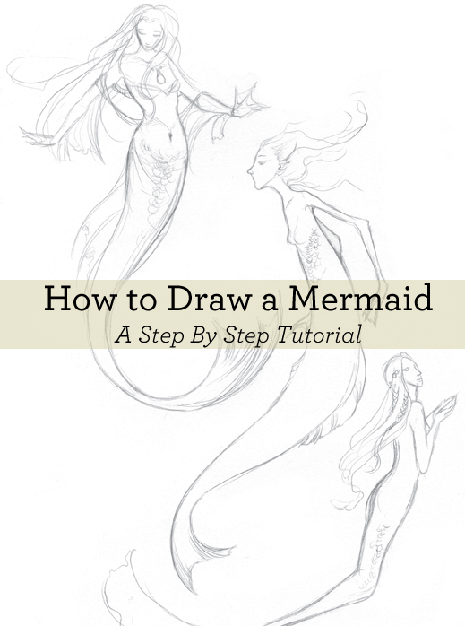 519x698 the ultimate guide to painting drawing fantasy art - Mermaid Drawing Step By Step
