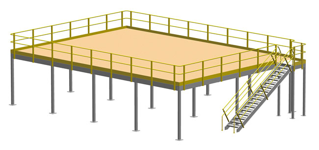 650x307 floor and ground mezzanine capacity guide cisco eagle - Mezzanine Drawing
