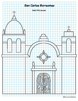 270x350 california mission drawing guide - Mission Drawing