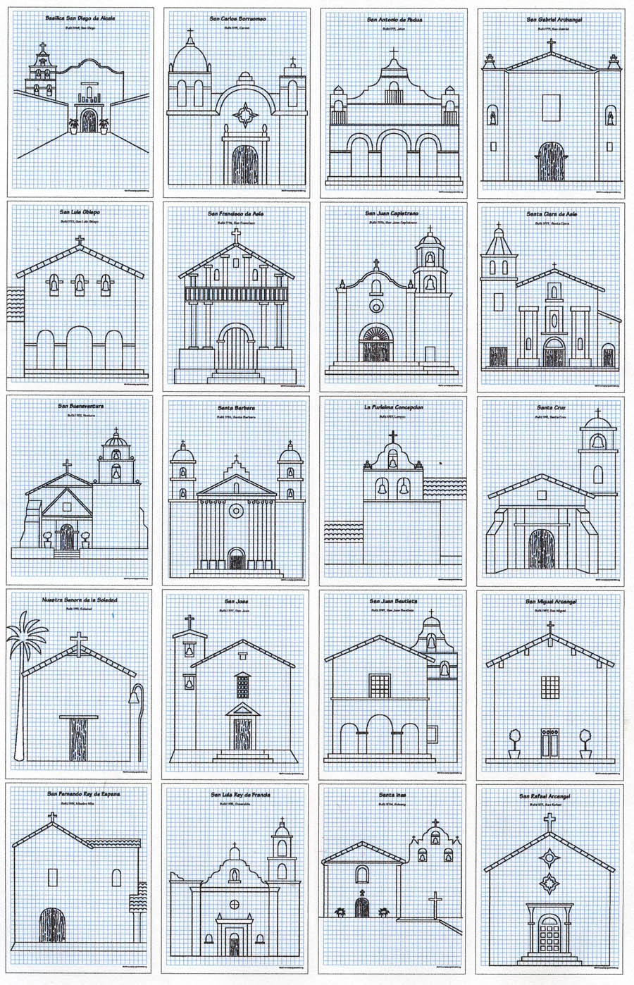 900x1398 california missions drawing guide art projects for kids - Mission Drawing