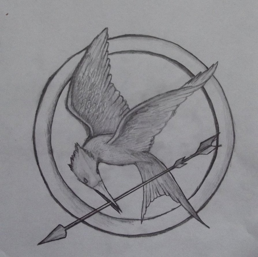 Mockingjay Pin Drawing