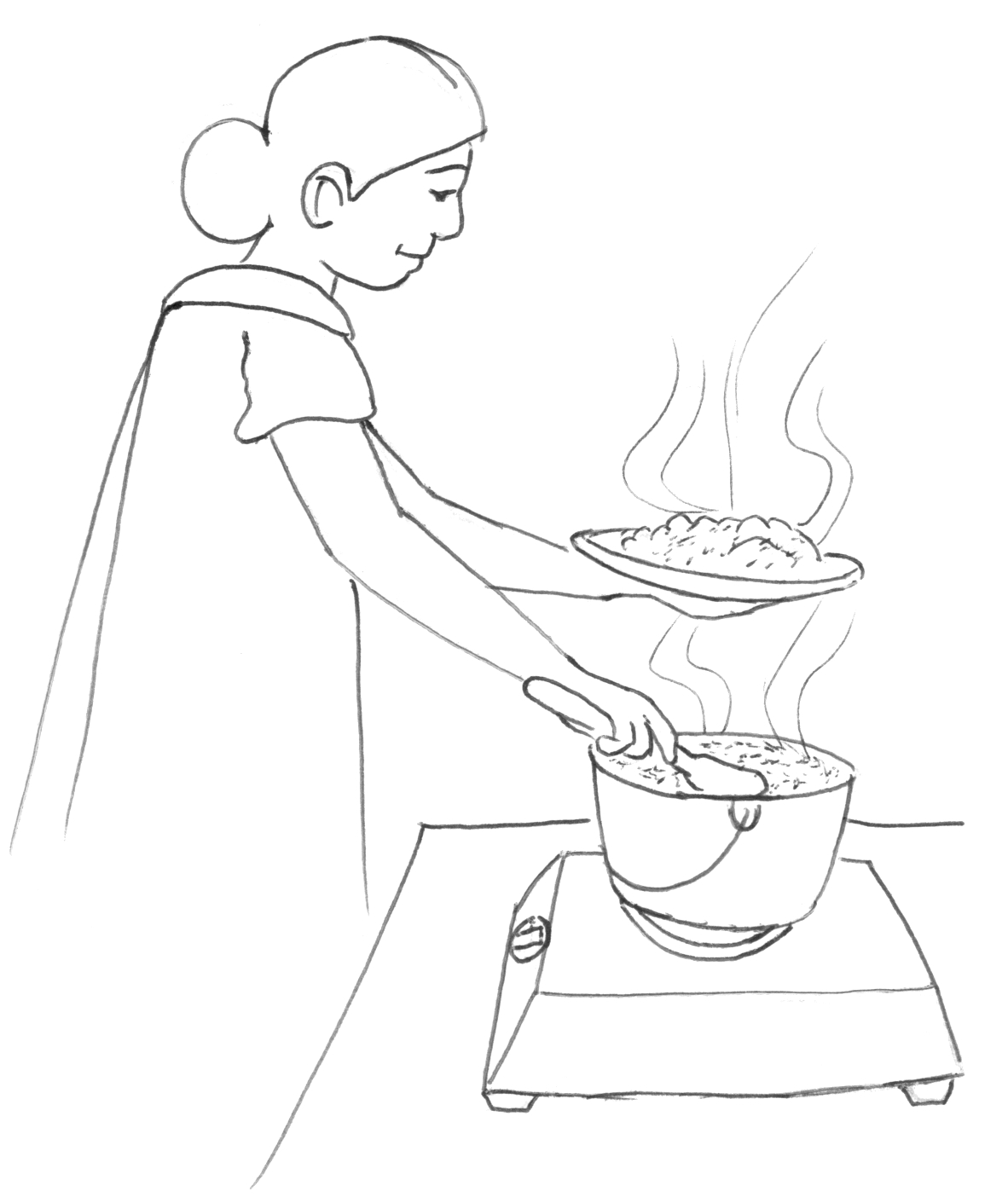 1182x1411 curriculum guide resources sil philippines - Mother Cooking Drawing