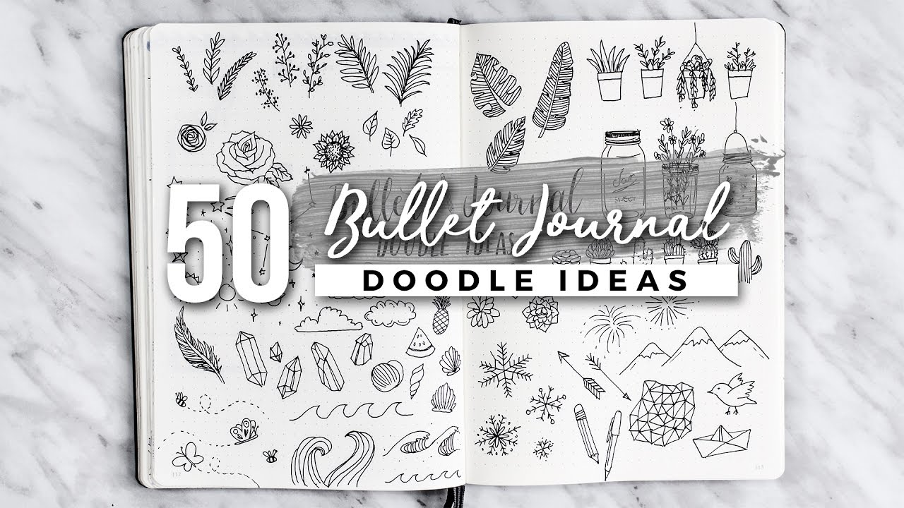 1280x720 bullet journal doodle ideas! the ultimate guide - Neat Drawing Ideas