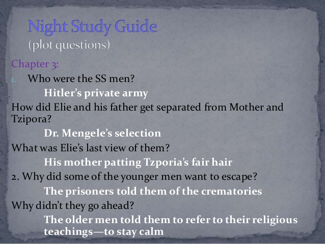 638x479 elie wiesel's night study guide - Night Elie Wiesel Drawing