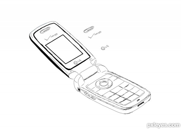600x429 drawing guide - Old Phone Drawing