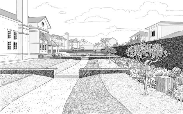 630x394 one point perspective drawing the ultimate guide - One Point Perspective City Drawing