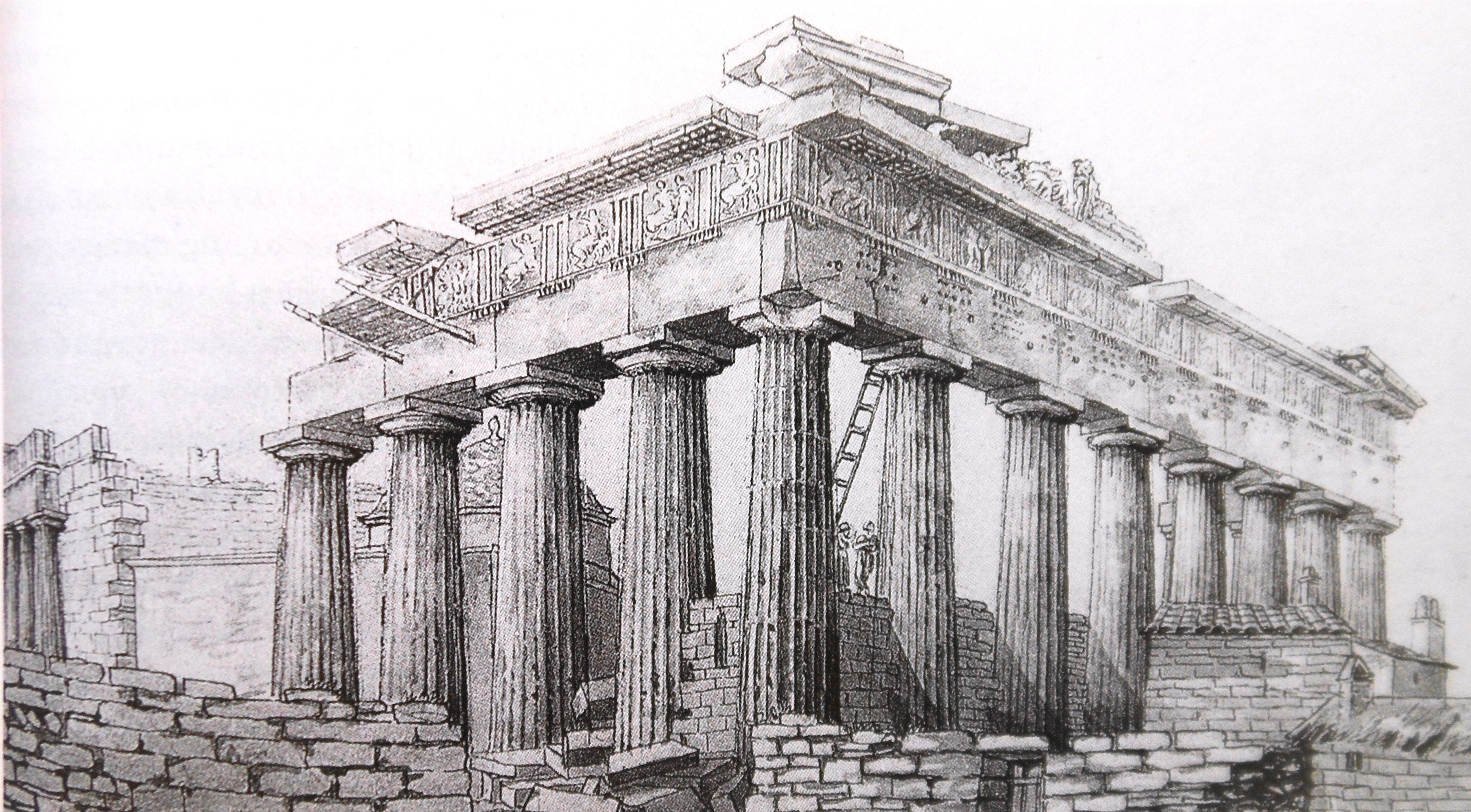 4375x2416 what's in a name aristotle, greek tourist guide - Parthenon Drawing