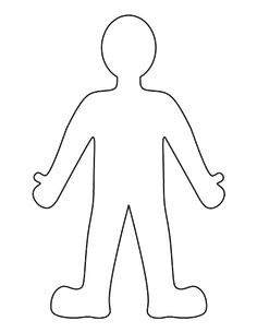 image regarding Person Outline Printable identified as Particular person Determine Drawing at  Check out