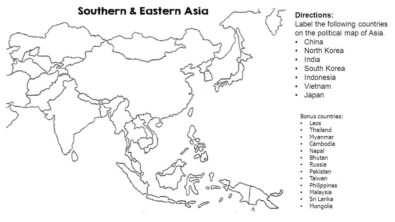 Empty Map Of Asia