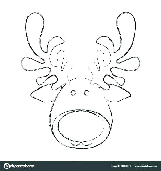 picture about Printable Reindeer Face named Reindeer Drawing Template at  Check out