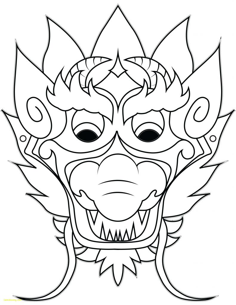 Simple Dragon Head Drawing