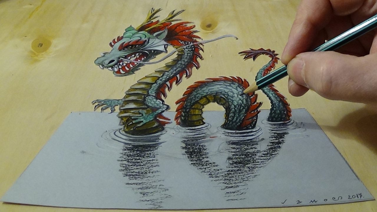 Water Dragon Drawing