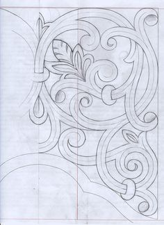 picture regarding Printable Chip Carving Patterns called Wooden Carving Drawing at  Check out