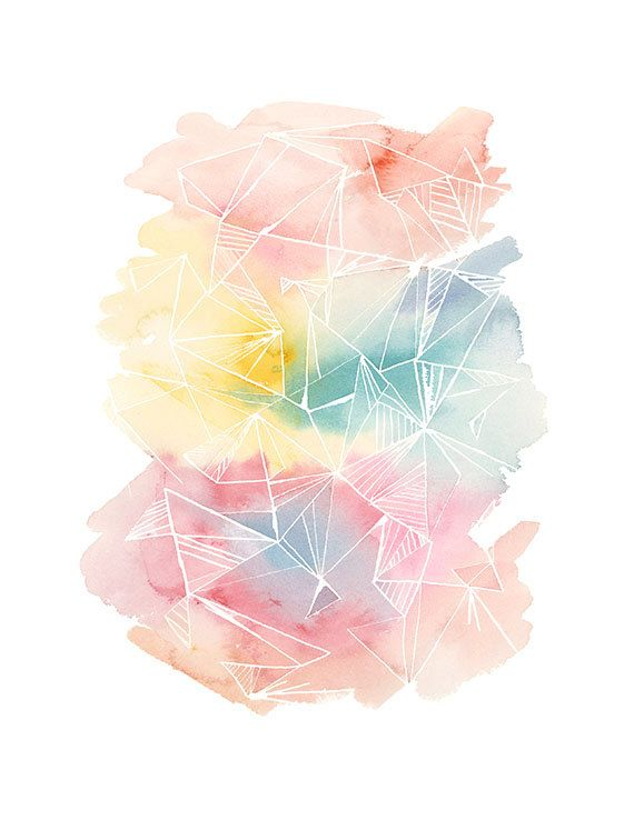 570x738 Handmade Watercolor Archival Art Print Color By Yaochengdesign - Color Splash Watercolor