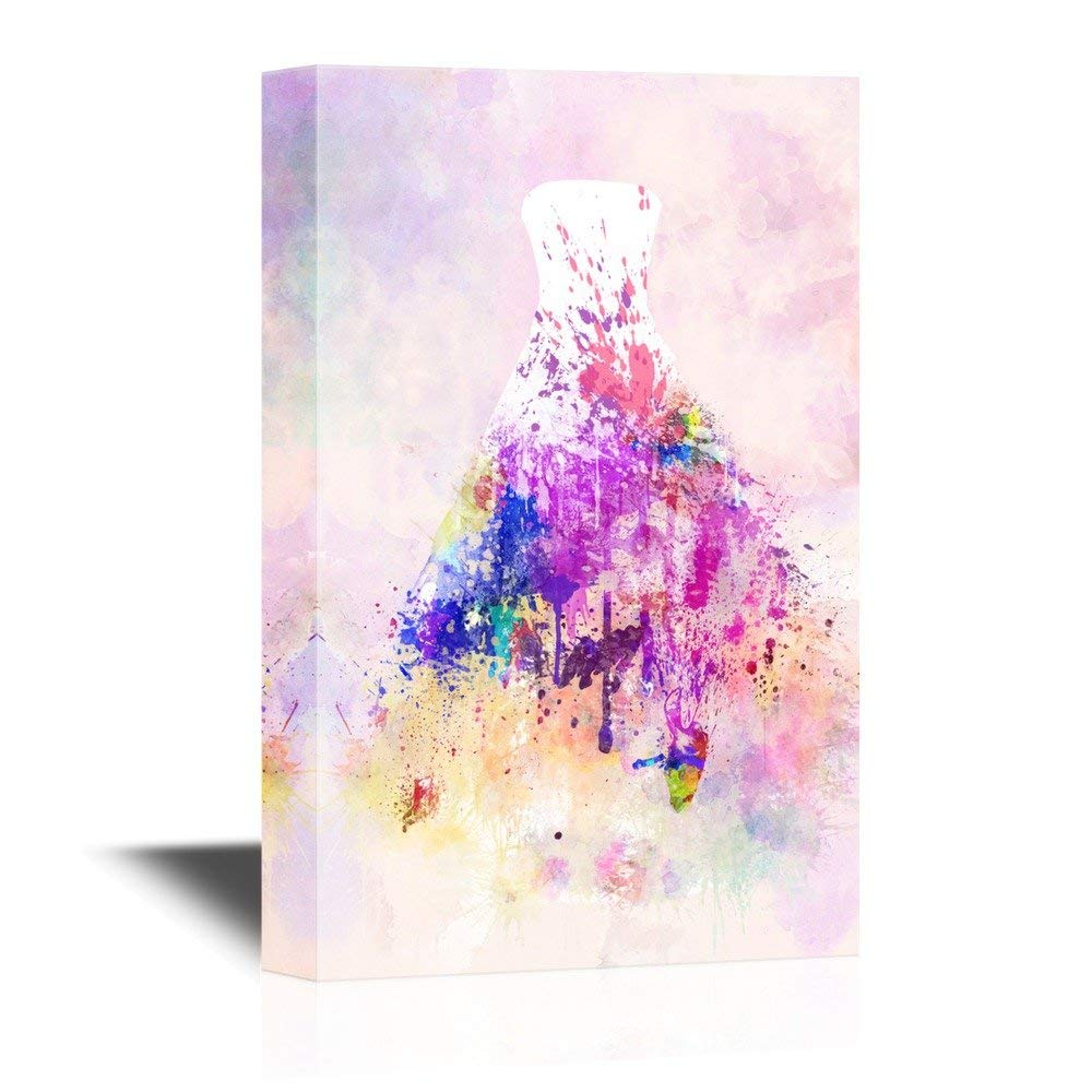 1000x1000 White Wedding Dress With Color Splash On Watercolor Style - Color Splash Watercolor