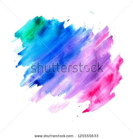 450x470 Abstract Watercolor Background, Blue Purple Pink And Green Color - Color Splash Watercolor
