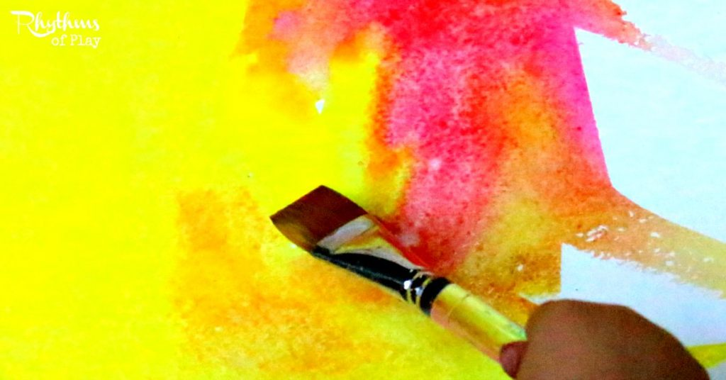 1024x536 Two Color Wet On Wet Watercolor Painting Rhythms Of Play - Color Watercolor