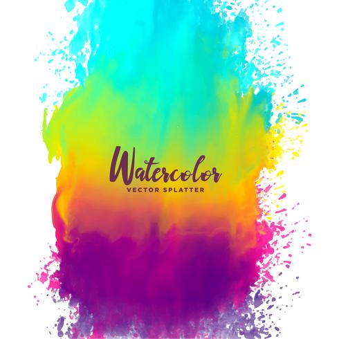 490x490 Rainbow Color Watercolor Splash Stain Background - Color Watercolor