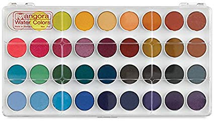 425x245 Angora Watercolor Set, 36 Color Pan Set Arts, Crafts - Color Watercolor