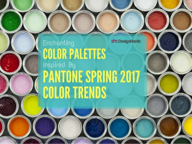 638x479 Enchanting Color Palettes Inspired By Pantone Spring 2017 Color Trends - Watercolor Color Combinations