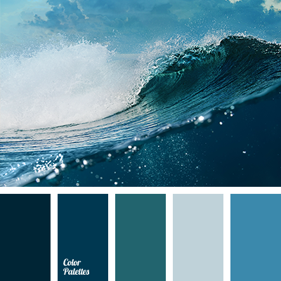 400x400 Color Of Ocean Water Color Palette Ideas - Watercolor Color Combinations