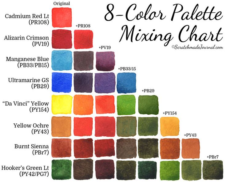 735x590 38 Great Cat 5 Color Scheme Color Scheme - Watercolor Color Schemes