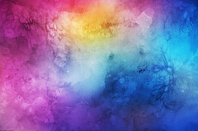 650x432 Color Texture Map, Color, Rainbow Color, Rainbow Background Image - Watercolor Rainbow Background