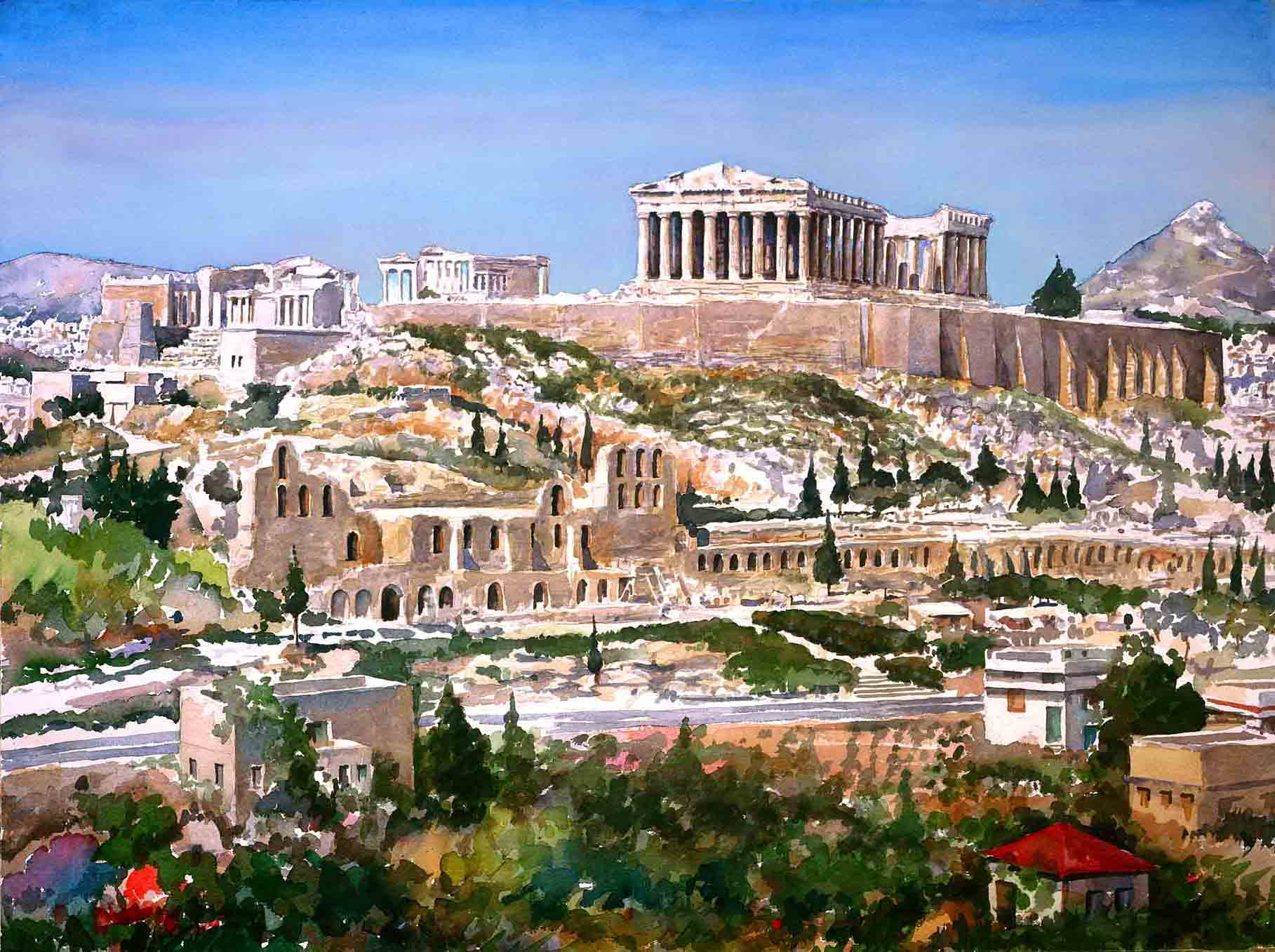 Ancient Athens Painting