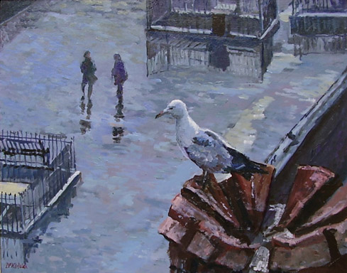 489x384 Gull's Eye View Bird Painting - Birds Eye View Painting