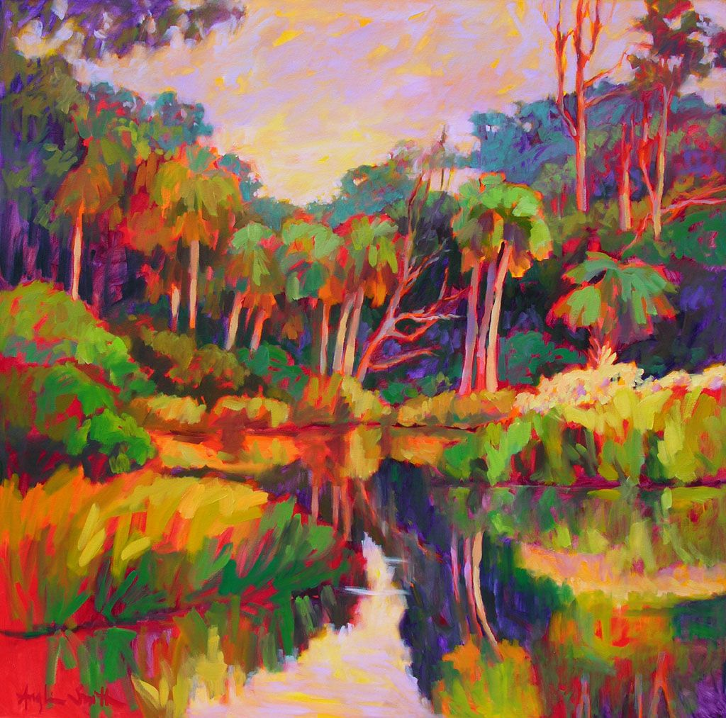 1024x1013 Lagoon On Kiawah, Kiawah, South Carolina. Painting By Betty Anglin - Carolina Painting