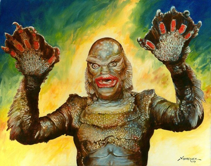 720x566 11 Best Creature Tattoo Images On Black Lagoon - Creature From The Black Lagoon Painting