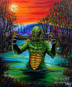 249x300 Creature From The Black Lagoon Paintings Fine Art America - Creature From The Black Lagoon Painting